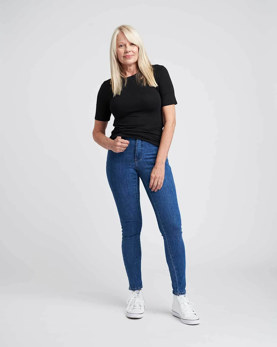 """<strong>The Size-Inclusive Essential</strong><br><br>For a little extra coverage and a sophisticated silhouette, Universal Standard's must-have tee features a slightly longer length sleeve, slinky fabric, and comes in an extensive range of sizes. <br><br><strong>The Hype:</strong> 5 out of 5 Stars on Universal Standard<br><br><strong>What They're Saying:</strong> """"I love the narrow cut, it hugs but doesn't cling to my body. The longer sleeve length is very neat. It gives it a mod-style sensibility. I will be wearing these under all of my sweaters all winter and as tees all spring. Bonus, cat fur does not cling to the fabric!"""" - Anonymous, Universal Standard Review<br><br><strong>Universal Standard</strong> Foundation Short Sleeve Crew Neck Relaxed Tee, $, available at <a href=""""https://go.skimresources.com/?id=30283X879131&url=https%3A%2F%2Fwww.universalstandard.com%2Fproducts%2Ffoundation-short-sleeve-crew-neck-relaxed-tee-black"""" rel=""""nofollow noopener"""" target=""""_blank"""" data-ylk=""""slk:Universal Standard"""" class=""""link rapid-noclick-resp"""">Universal Standard</a>"""