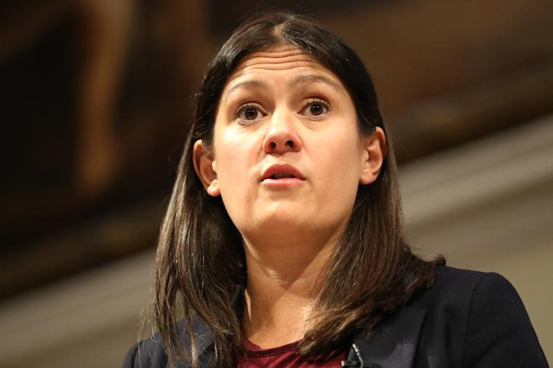 Labour leadership candidate Lisa Nandy at RSA House, London, delivering a speech on the UK's place in a post-Brexit world.