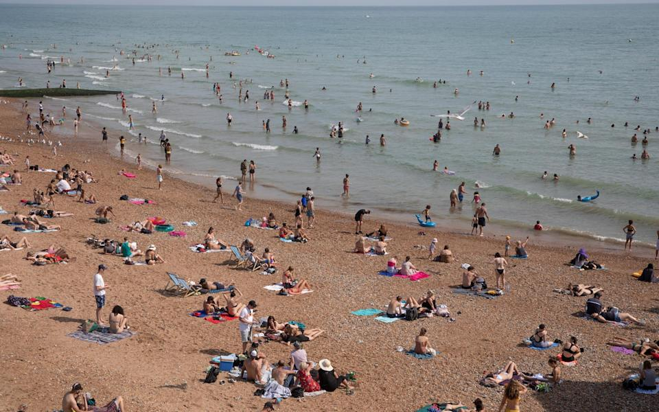People descended on Brighton Beach last weekend