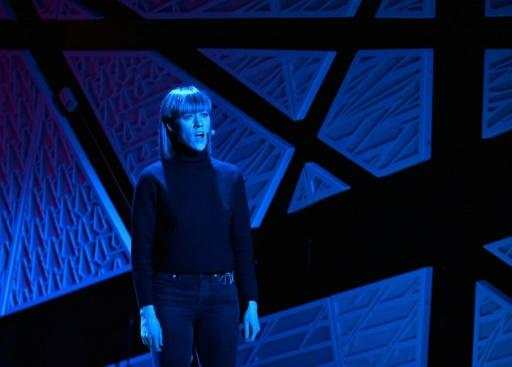 """Lucy Dhegrae rehearses her """"Processing Series"""" performance at New York's National Sawdust art institute, a show based on her experience recovering from the trauma of rape"""