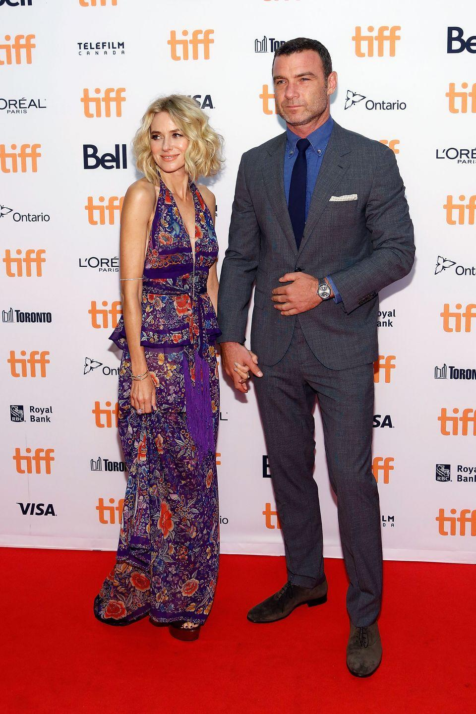 "<p>Watts and Schrieber announced their divorce in 2016, but the couple has remained amicable. The couple even appeared as husband and wife in the 2016 film <em>Chuck.</em> ""It's important to support each other,"" Schrieber said on <em><a href=""https://www.today.com/video/liev-schreiber-on-split-with-naomi-watts-we-ll-always-be-partners-1130061891636"" rel=""nofollow noopener"" target=""_blank"" data-ylk=""slk:Sunday Today with Willie Geist"" class=""link rapid-noclick-resp"">Sunday Today with Willie Geist</a>. </em>""I think the way that we've looked at it is that we'll always be partners with these kids.""</p>"