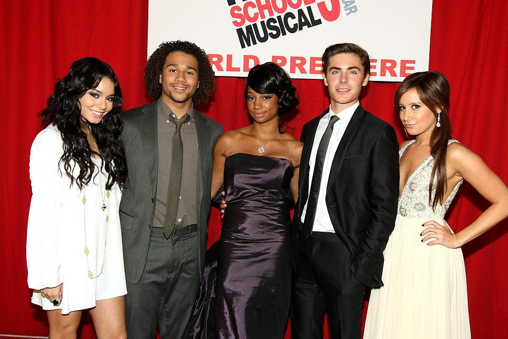 "Vanessa Hudgens, Corbin Bleu, Monique Coleman, Zac Efron, and Ashley Tisdale gathered for the LA premiere of ""High School Musical 3: Senior Year"" on Thursday. ""HSM 3"" comes out this week, but Disney is already planning a sequel. The fourth film will likely be without Efron, Hudgens, and the other main actors. Eric Charbonneau/<a href=""http://www.wireimage.com"" target=""new"">WireImage.com</a> - October 16, 2008"