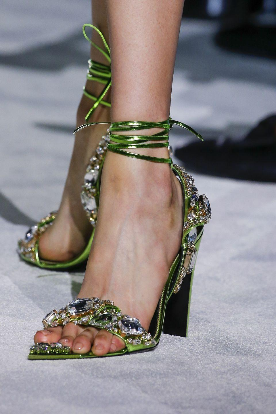 <p>A pair of statement-making, embellished heels to top off the party-ready looks at Tom Ford.</p>