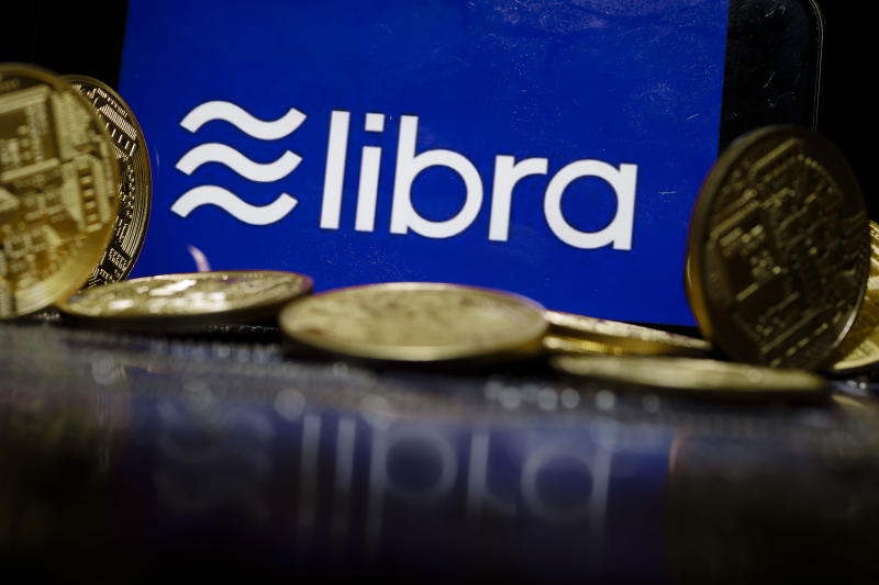 BERLIN, GERMANY - OCTOBER 01: The logo of the crypto currency Libra is displayed on a smartphone on October 01, 2019 in Berlin, Germany. (Photo Illustration by Thomas Trutschel/Photothek via Getty Images)