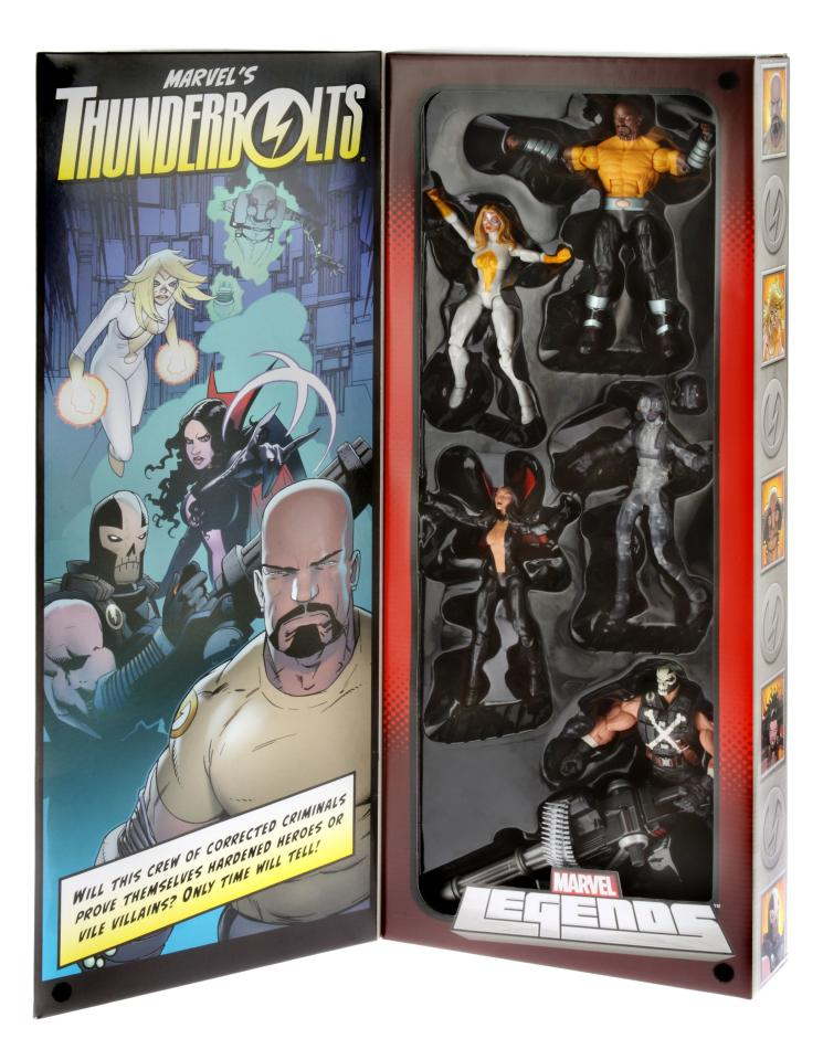 <b>The Thunderbolts Marvel Legends Set with Crossbones, Ghost, Judith Chambers, Luke Cage, and Moonstone</b><br />Hasbro