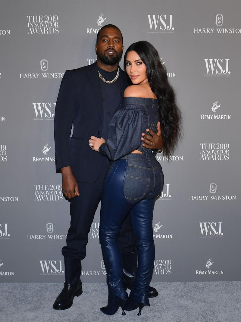 Kanye West and Kim Kardashian in 2019 (AFP via Getty Images)