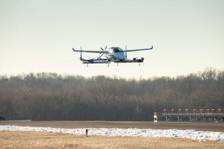 Boeing's Autonomous Passenger Air Vehicle (PAV) prototype is shown during an inaugural test flight, in Manassas, Virginia, U.S., January 22, 2019. Boeing/Handout via REUTERS