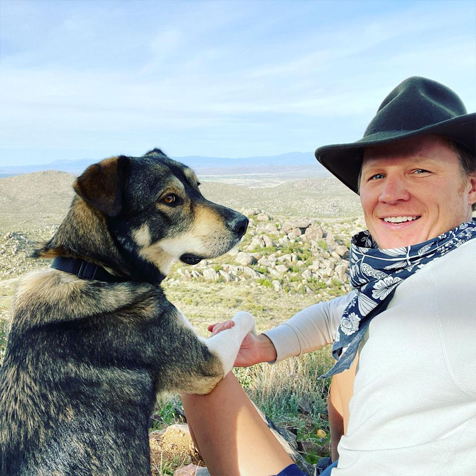 """One fan called Christopher """"hot"""" after he shared a selfie with his dog. Photo: Instagram/mr_christopher_egan"""