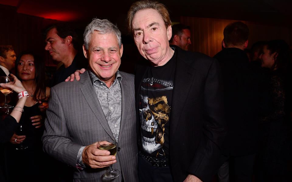 Cameron Mackintosh with Andrew Lloyd Webber in 2016 - Shutterstock