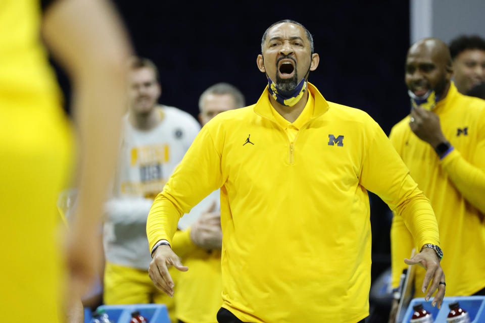 Michigan coach Juwan Howard has led his team to the Sweet 16. (Photo by Tim Nwachukwu/Getty Images)