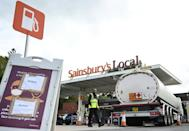 A lack of tanker drivers and panic buying has caused many filling stations to run dry (AFP/Paul ELLIS)