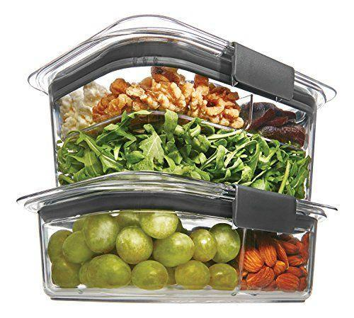 """<p><strong>Rubbermaid</strong></p><p>amazon.com</p><p><strong>$19.66</strong></p><p><a href=""""https://www.amazon.com/dp/B06XSFGZS3?tag=syn-yahoo-20&ascsubtag=%5Bartid%7C10055.g.36366442%5Bsrc%7Cyahoo-us"""" rel=""""nofollow noopener"""" target=""""_blank"""" data-ylk=""""slk:SHOP NOW"""" class=""""link rapid-noclick-resp"""">SHOP NOW</a></p><p>Leftovers are always a bonus to cooking a big meal, and with stackable containers and leak-proof lids that create an airtight seal, any of your meatless recipes, whether it be <a href=""""https://www.goodhousekeeping.com/food-recipes/healthy/a42200/peanutty-edamame-and-noodle-salad-recipe/"""" rel=""""nofollow noopener"""" target=""""_blank"""" data-ylk=""""slk:peanutty edamame and noodle salad"""" class=""""link rapid-noclick-resp"""">peanutty edamame and noodle salad</a> or <a href=""""https://www.goodhousekeeping.com/food-recipes/a38332/grilled-asparagus-and-shiitake-tacos-recipe/"""" rel=""""nofollow noopener"""" target=""""_blank"""" data-ylk=""""slk:shiitake tacos"""" class=""""link rapid-noclick-resp"""">shiitake tacos</a>, will stay delicious and fresh, and taste like you just whipped them up at a moment's notice. According to one reviewer, the containers check all her boxes. """"I have put liquids like pasta sauce in my Brilliance container and have not had any leaks or stains,"""" she noted. """"I have microwaved and refrigerated them. I run them through the dishwasher with no issue."""" </p>"""