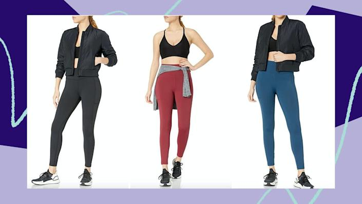 "We have a Huffpost-exclusive coupon code on <a href=""https://amzn.to/3g6tMOu"" rel=""nofollow noopener"" target=""_blank"" data-ylk=""slk:Amazon's beloved Core10 high-waist leggings"" class=""link rapid-noclick-resp"">Amazon's beloved Core10 high-waist leggings</a>. (Photo: Amazon)"