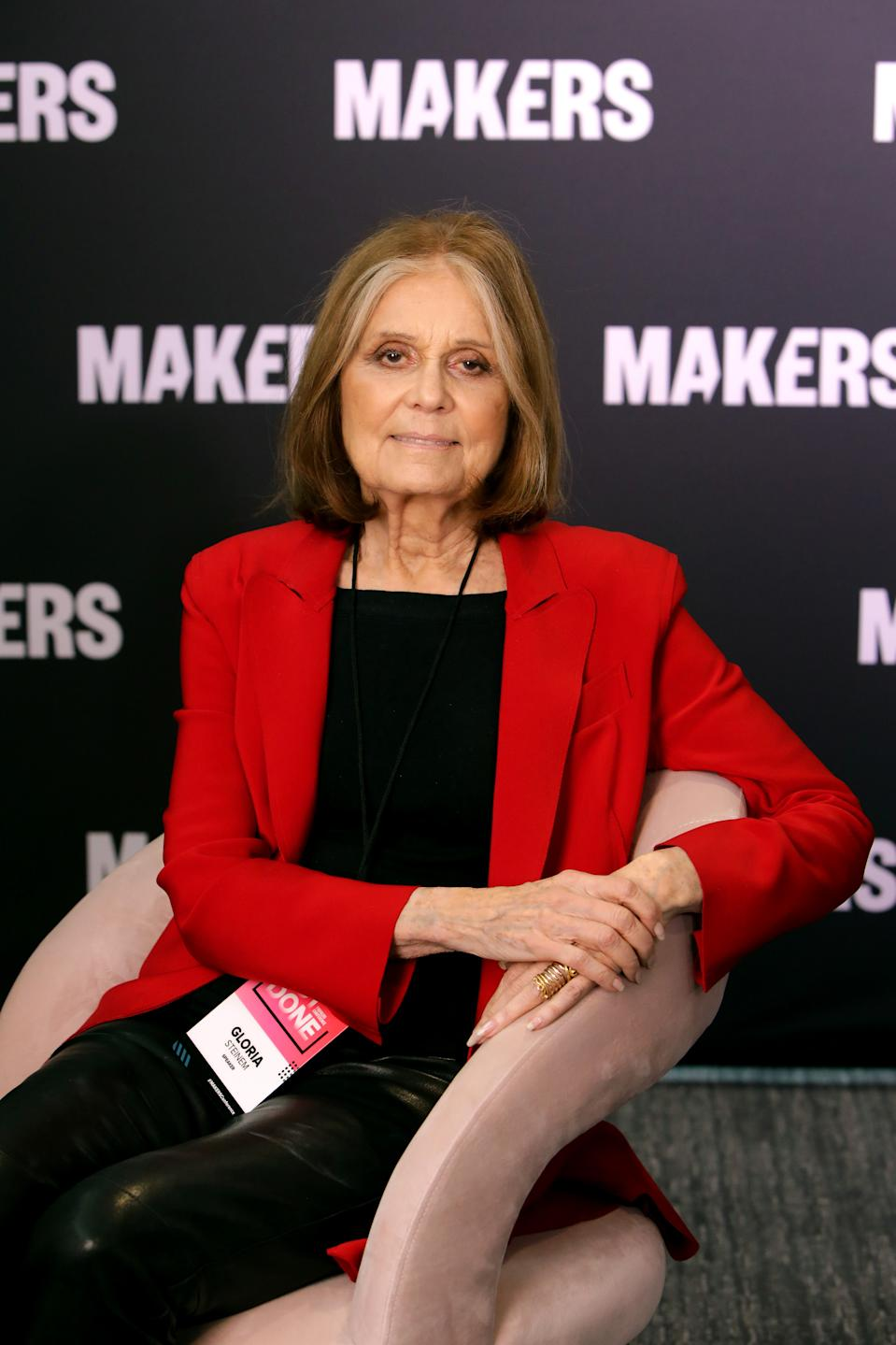 LOS ANGELES, CALIFORNIA - FEBRUARY 11: Gloria Steinem attends The 2020 MAKERS Conference on February 11, 2020 in Los Angeles, California. (Photo by Rachel Murray/Getty Images for MAKERS)