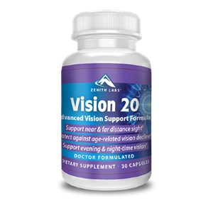 Vision 20 is commonly referred to as an advanced vision support formula that supports healthy vision in older age.