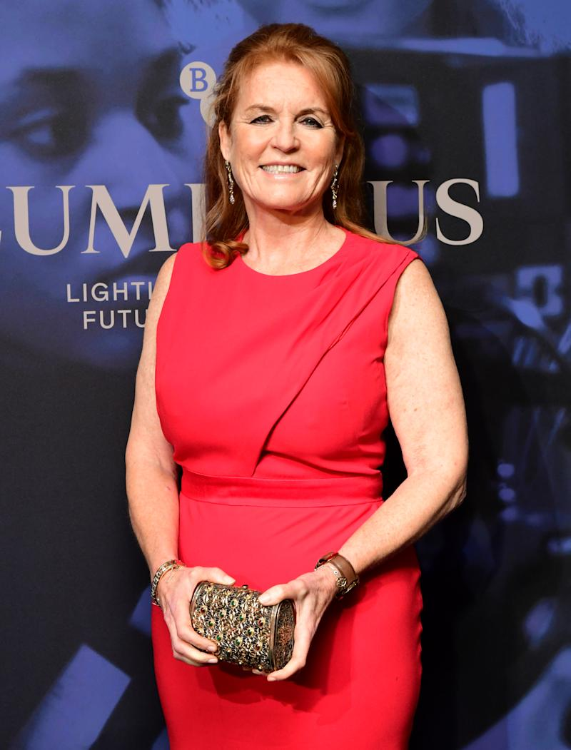 Sarah Ferguson the Duchess of York attending the LUMINOUS Fundraising Gala as part of the BFI London Film Festival 2019 held at the Roundhouse in London. (Photo by Ian West/PA Images via Getty Images)
