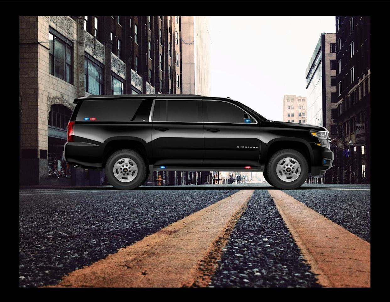 """<p><strong>Event:</strong> State-Sanctioned Lockdown<br><strong>Strategy:</strong> Sneak out in plain sight.<br></p><p>Pre-apocalyptic sorts of tensions take a while to play out into full-on lockdowns, so you've had time to equip your black Chevrolet Suburban HD (today available only to fleets, but you can get around that snafu, right?) with the requisite """"secret service"""" treatment. That means lights, antennae, tinted windows, and the like.</p>"""