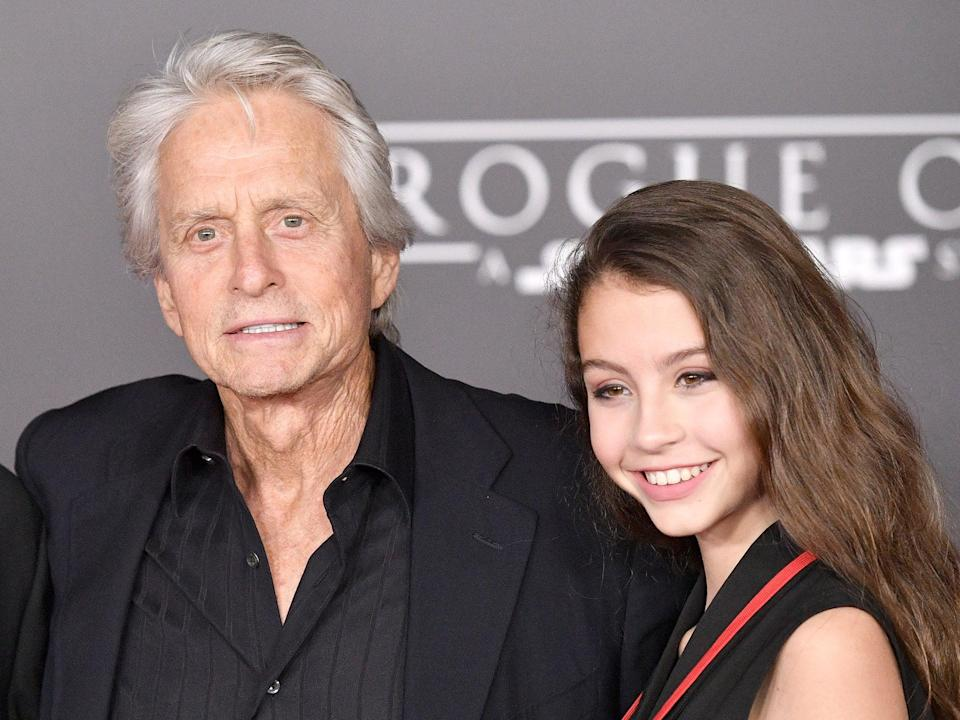 <p>Michael Douglas and his daughter Carys in 2016</p> (Mike Windle/Getty Images)