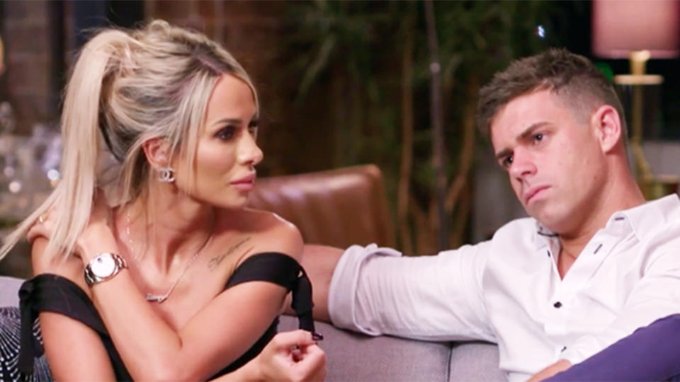 Stacey and Michael on the couch at Married At First Sight