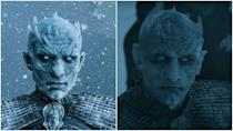 "<p>Apparently, <em>Game of Thrones </em>didn't think anyone would notice when an entirely different Night King rolled in during season 6. But hey, they also didn't think anyone would notice <a href=""https://www.cosmopolitan.com/entertainment/a27371261/game-of-thrones-starbucks-cup/"" rel=""nofollow noopener"" target=""_blank"" data-ylk=""slk:that Starbucks coffee cup"" class=""link rapid-noclick-resp"">that Starbucks coffee cup</a>. Richard Brake played the original Night King before being replaced by Vladimir Furdik, who—get this—<a href=""https://ew.com/tv/2019/03/07/night-king-game-of-thrones-interview/"" rel=""nofollow noopener"" target=""_blank"" data-ylk=""slk:had previously played the first White Walker Jon Snow killed"" class=""link rapid-noclick-resp"">had previously played the first White Walker Jon Snow killed</a>. </p>"