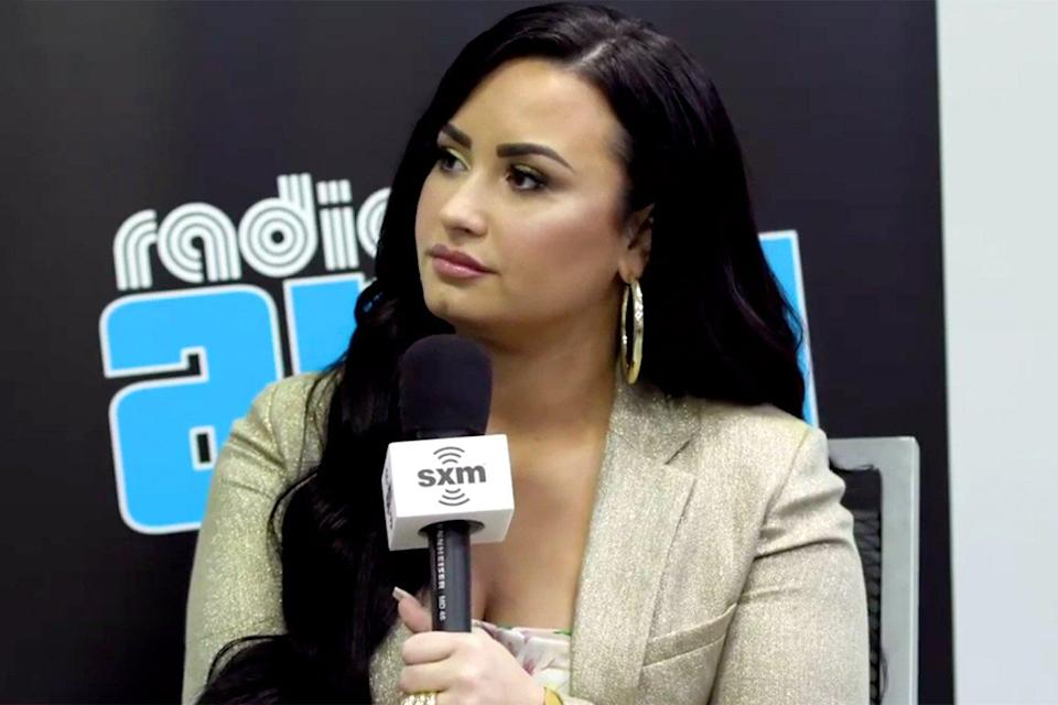 """""""It was actually, like emotional, but really beautiful,"""" Lovato said on the <a href=""""https://www.youtube.com/watch?v=k6eDsSZr_80&feature=youtu.be"""" rel=""""nofollow noopener"""" target=""""_blank"""" data-ylk=""""slk:Radio Andy SiriusXM show"""" class=""""link rapid-noclick-resp""""><em>Radio Andy</em> SiriusXM show</a> in Jan. 2020. """"After everything was done I was like shaking and crying and I just felt overwhelmed, but I have such incredible parents. They were so supportive."""" """"My dad was like, 'Yeah, obviously,'"""" she continued. """"And I was like, 'oh, okay dad.'"""" """"My mom was the one that I was like super nervous about, but she was just like, 'I just want you to be happy,'"""" Lovato shared. """"That was so beautiful and amazing, and like I said, I'm so grateful."""""""