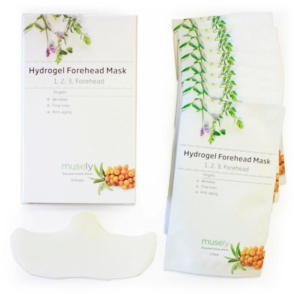 """<p>Not only is the <a href=""""https://www.popsugar.com/buy/Musely%20Hydrogel%201%2C%202%2C%203%2C%20Forehead%20Forehead%20Mask-473488?p_name=Musely%20Hydrogel%201%2C%202%2C%203%2C%20Forehead%20Forehead%20Mask&retailer=musely.com&pid=473488&price=35&evar1=bella%3Aus&evar9=46431129&evar98=https%3A%2F%2Fwww.popsugar.com%2Fbeauty%2Fphoto-gallery%2F46431129%2Fimage%2F46432622%2FForehead-Sheet-Mask&list1=face%20mask%2Cskin%20care&prop13=api&pdata=1"""" rel=""""nofollow"""" data-shoppable-link=""""1"""" target=""""_blank"""" class=""""ga-track"""" data-ga-category=""""Related"""" data-ga-label=""""https://www.musely.com/product/Musely-Hydrogel-Forehead-Mask-1-2-3-Forehead-box-Of-8/8rvc7ost?utm_content=8rvc7ost&amp;utm_campaign=google-oem-campaign&amp;utm_source=google&amp;gclid=EAIaIQobChMI3NHL1-Xa4wIVwZ6zCh0gCw6hEAQYASABEgLZg_D_BwE#image.0"""" data-ga-action=""""In-Line Links"""">Musely Hydrogel 1, 2, 3, Forehead Forehead Mask</a> ($35) shaped perfectly for the area, it's also loaded with hydrating grape seed oil and brightening <a href=""""https://www.popsugar.com/beauty/photo-gallery/44955786/image/44955902/Niacinamide"""" class=""""ga-track"""" data-ga-category=""""Related"""" data-ga-label=""""https://www.popsugar.com/beauty/photo-gallery/44955786/image/44955902/Niacinamide"""" data-ga-action=""""In-Line Links"""">niacinamide</a>.</p>"""