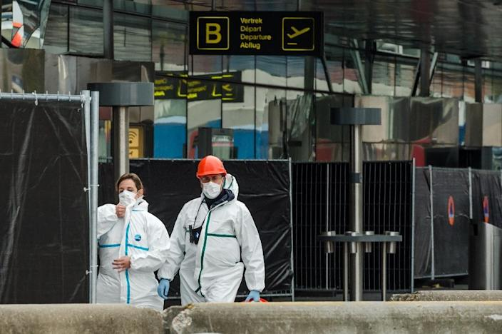 The Islamic State suicide bombers who attacked Brussels airport last year targeted passengers travelling to the United States and also Jewish people, sources say (AFP Photo/Geert Vanden Wijngaert)