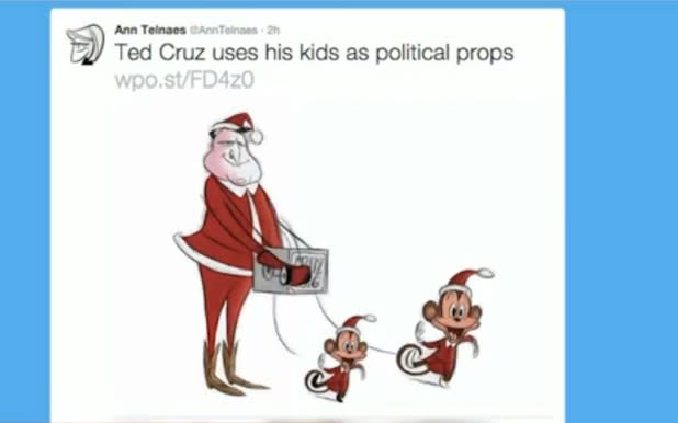 Washington Post Pulls Cartoon Depicting Ted Cruz's Daughters as Monkeys (Photo)