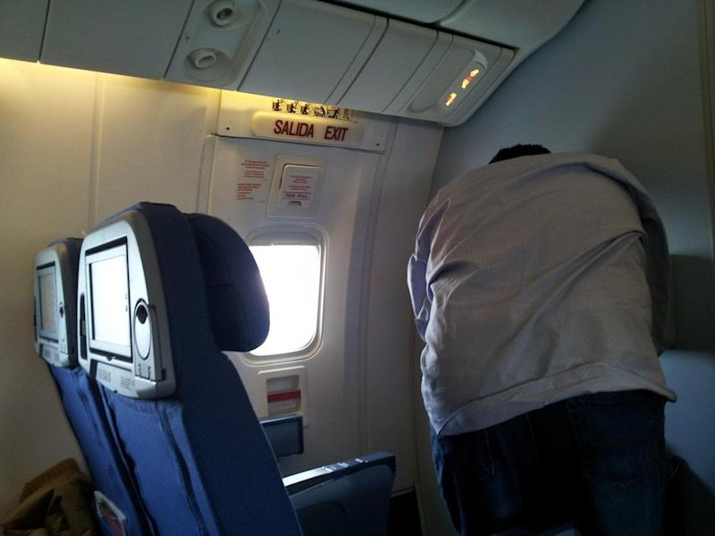 Here's another look at the exit row because why not.