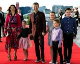 <p>As the wife of Frederik, Crown Prince of Denmark, Princess Mary looks to be setting a good example for her kids on the style side of things. Plus we can't get over those shoes! Source: Getty </p>