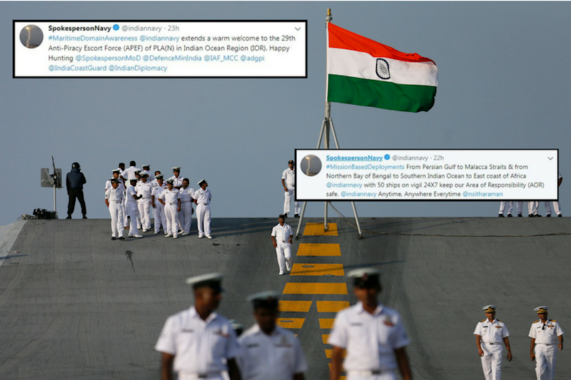 In Cheeky Tweets, Indian Navy Issues Warning to China Over Indian Ocean
