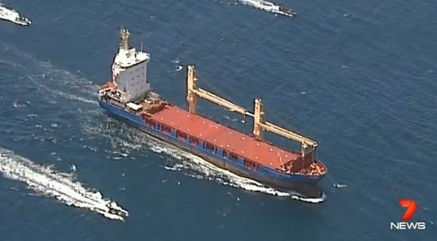 The controversial vessel arrived in Australia today. Photo: 7 News