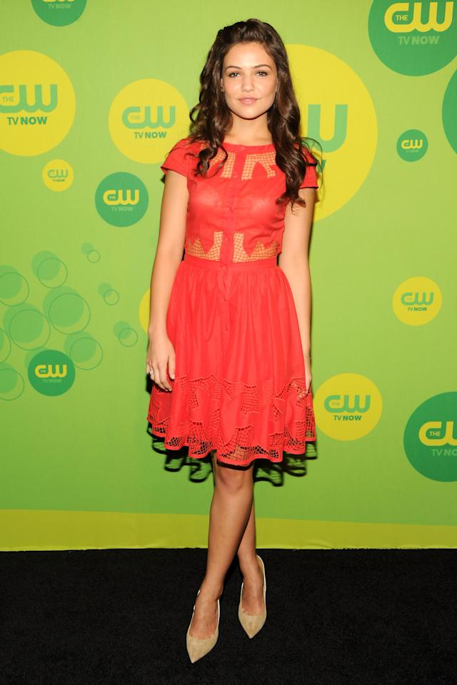 NEW YORK, NY - MAY 16:  Actress Danielle Campbell attends The CW Network's New York 2013 Upfront Presentation at The London Hotel on May 16, 2013 in New York City.  (Photo by Ben Gabbe/Getty Images)