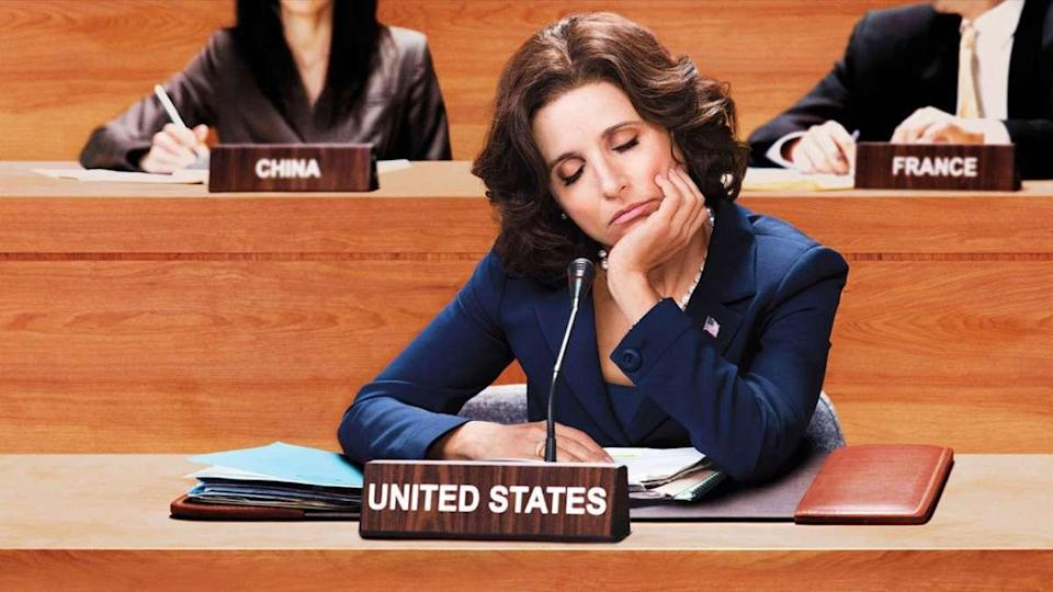 "<p>Selina Meyer predicted something that we could have never seen coming: what happens when someone absolutely bananas ends up in the highest office in the land. But more than that, Julia Louis-Dreyfus created a character that set her far apart from her <em>Seinfeld </em>years, proving herself to be one of the most iconic comedic performers of our time.</p><p><a class=""link rapid-noclick-resp"" href=""https://play.hbonow.com/series/urn:hbo:series:GVU2fLgkp0lFvjSoJAT_x?camp=Search&play=true"" rel=""nofollow noopener"" target=""_blank"" data-ylk=""slk:Watch Now"">Watch Now</a></p>"