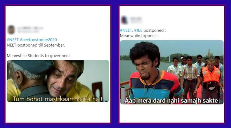 NEET and JEE Main Exams Postponed Till September, Backbencher Students Celebrate With Funny Memes and Jokes Which Toppers Surely Wouldn't Appreciate