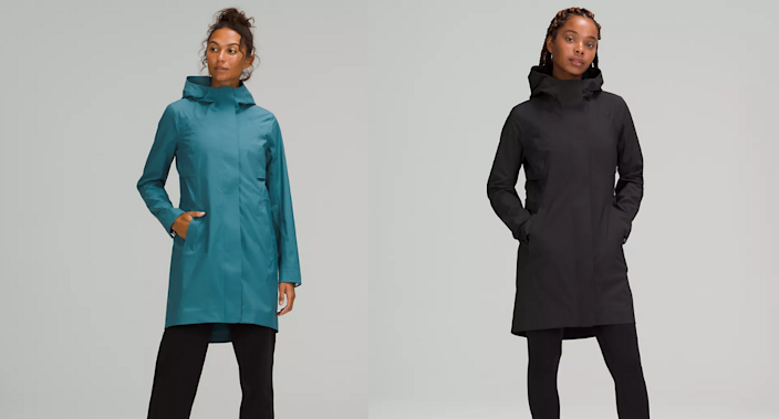 The new and improved Rain Rebel Jacket is a must have before the rainy fall.  Images via Lululemon.