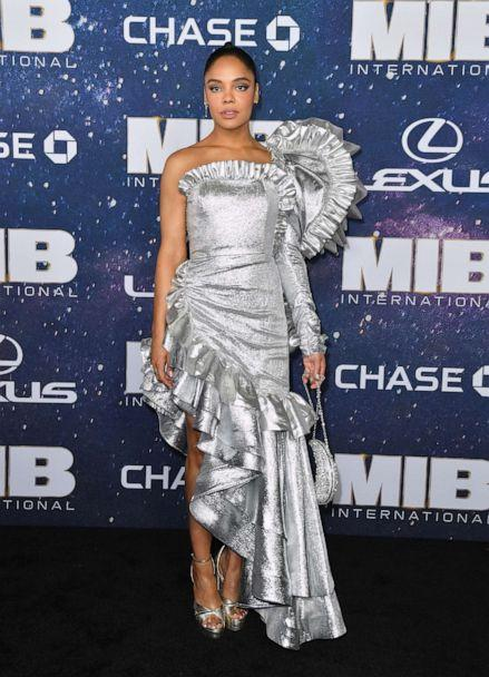 PHOTO: Actress Tessa Thompson attends the 'Men In Black: International' premiere at AMC Lincoln Square, June 11, 2019, in New York City. (Angela Weiss/AFP/Getty Images)