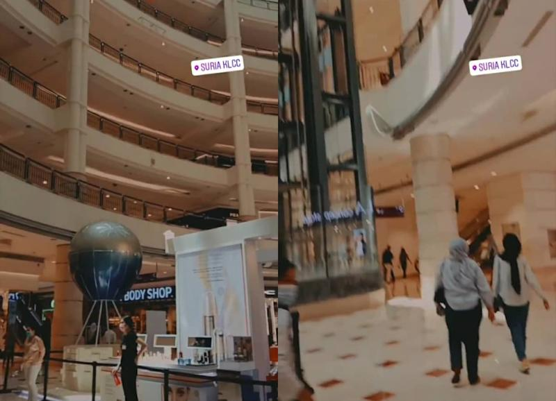 People walking around in KLCC today. Photos:Pt.bttyyy_/Instagram