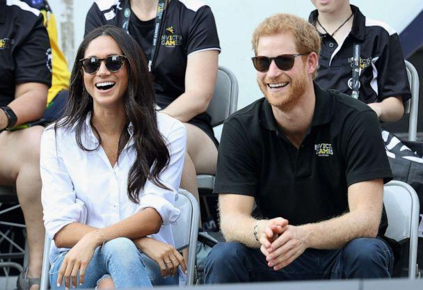 PHOTO: Meghan Markle and Prince Harry attend a Wheelchair Tennis match during the Invictus Games 2017 at Nathan Philips Square, Sept. 25, 2017 in Toronto.  (Chris Jackson/Getty Images, FILE)