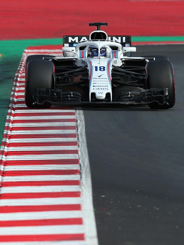 Motor Racing - F1 Formula One - Formula One Test Session - Circuit de Barcelona-Catalunya, Montmelo, Spain - March 8, 2018 Lance Stroll of Williams during testing. Picture taken March 8, 2018. REUTERS/Albert Gea