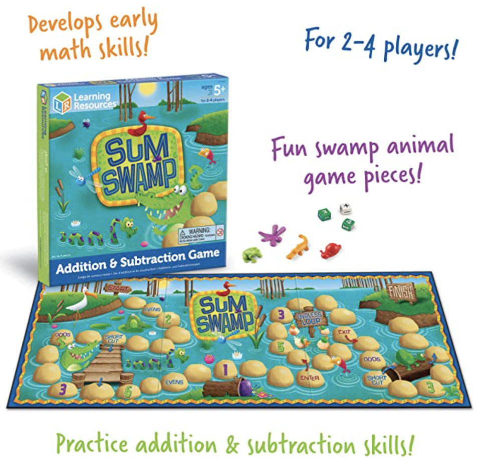 Sum Swamp Addition and Subtraction Game. PHOTO: Amazon