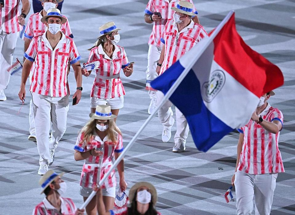 <p>Paraguay's athletes looked like they were all headed to the nearest carnival. </p>