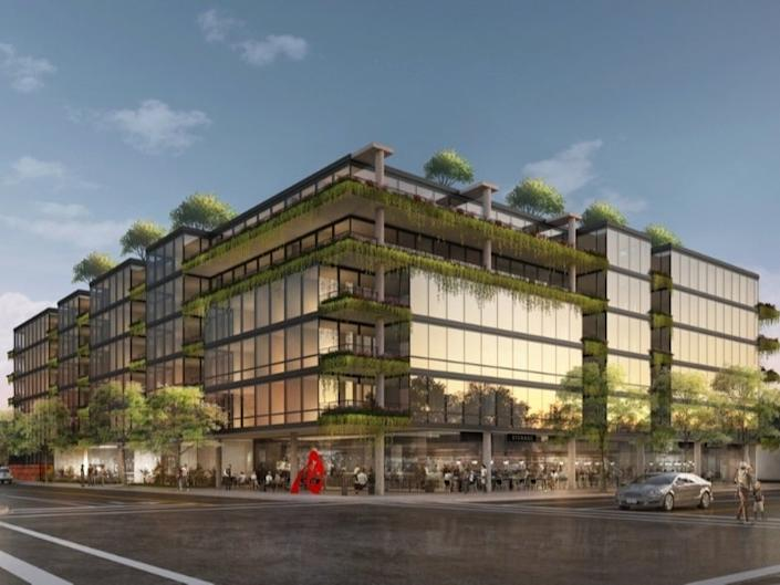 Glencoe-based Optima Inc. received final approval last month from the Wilmette Village Board for a 109-unit luxury rental development across the street from the train station. (Optima Inc.)