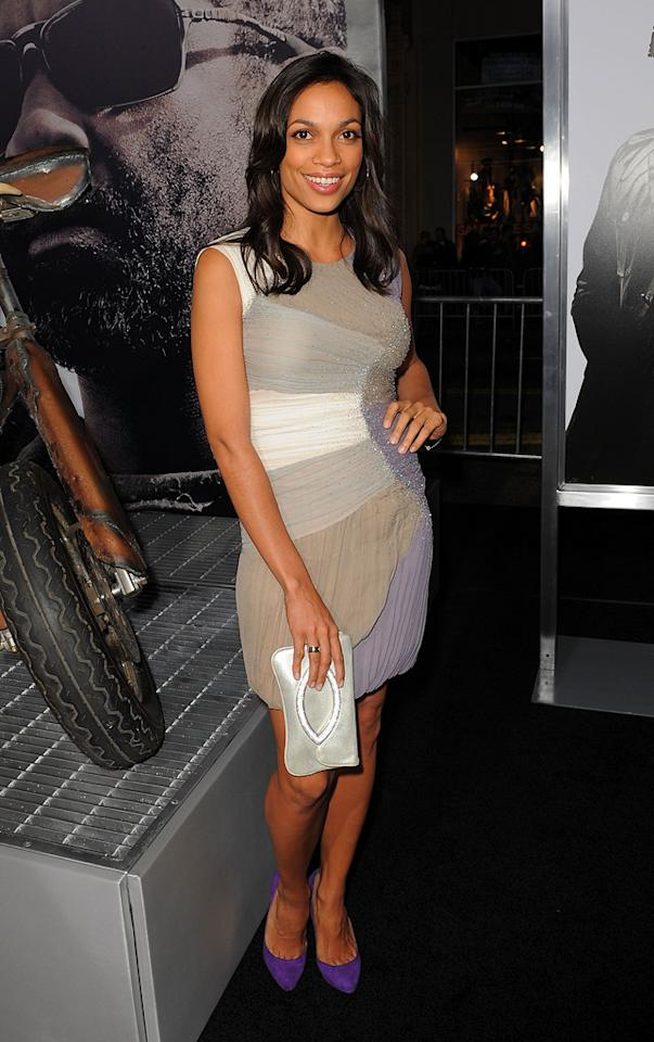 """<a href=""""http://movies.yahoo.com/movie/contributor/1800023039"""">Rosario Dawson</a> at the Los Angeles premiere of <a href=""""http://movies.yahoo.com/movie/1810067275/info"""">The Book of Eli</a> - 01/11/2010"""