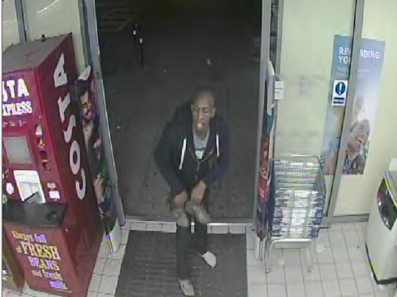 Police have launched an appeal to identify the suspect, described as black, slim, bald and around 6ft 2ins: Met Police