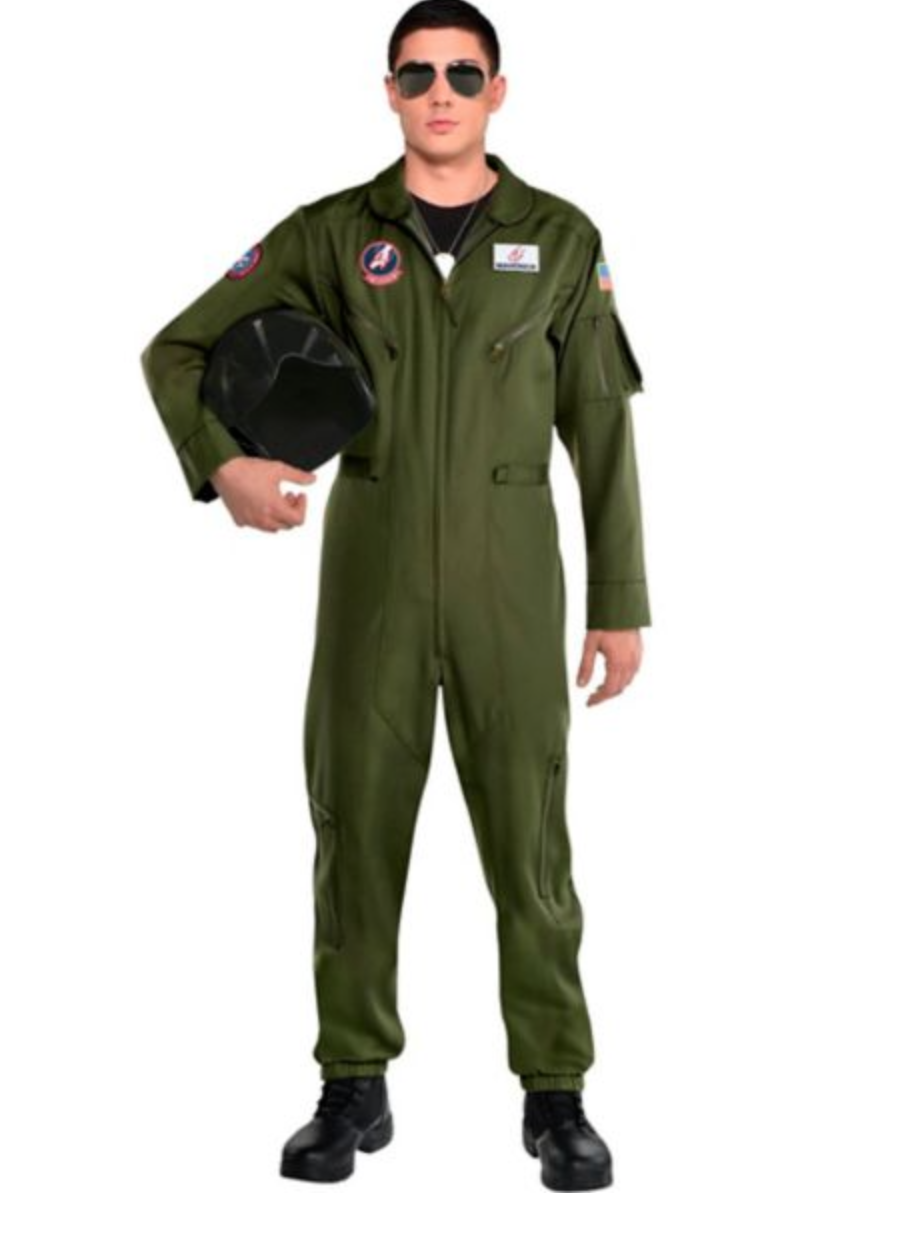 Top Gun Flightsuit Costume. Photo via Party City.