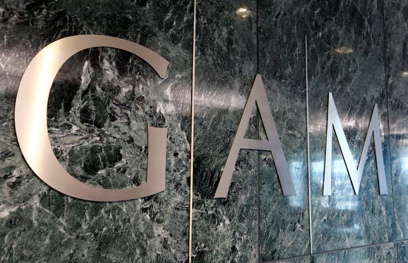 Logo of GAM investment management company is seen in Zurich