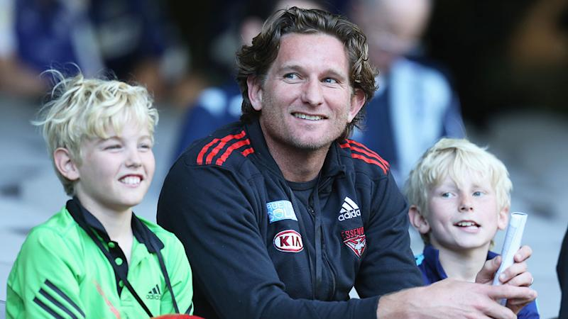 Seen here, James Hird with his sons Tom and Alex in 2002.
