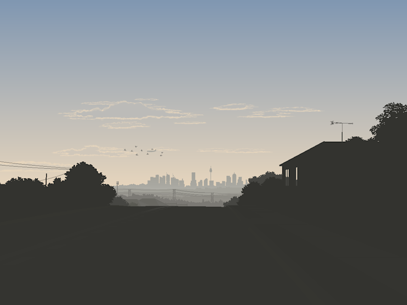 Another skyline artwork from the west.