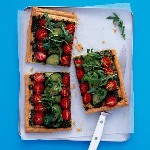"""<p>Add courgettes to a tart, which not only adds colour to the table, but acts as a wonderful sharing dish in the summer.</p><p><strong>Recipe: <a href=""""https://www.goodhousekeeping.com/uk/food/recipes/courgette-and-tomato-tart"""" rel=""""nofollow noopener"""" target=""""_blank"""" data-ylk=""""slk:Courgette and tomato tart"""" class=""""link rapid-noclick-resp"""">Courgette and tomato tart</a></strong></p>"""